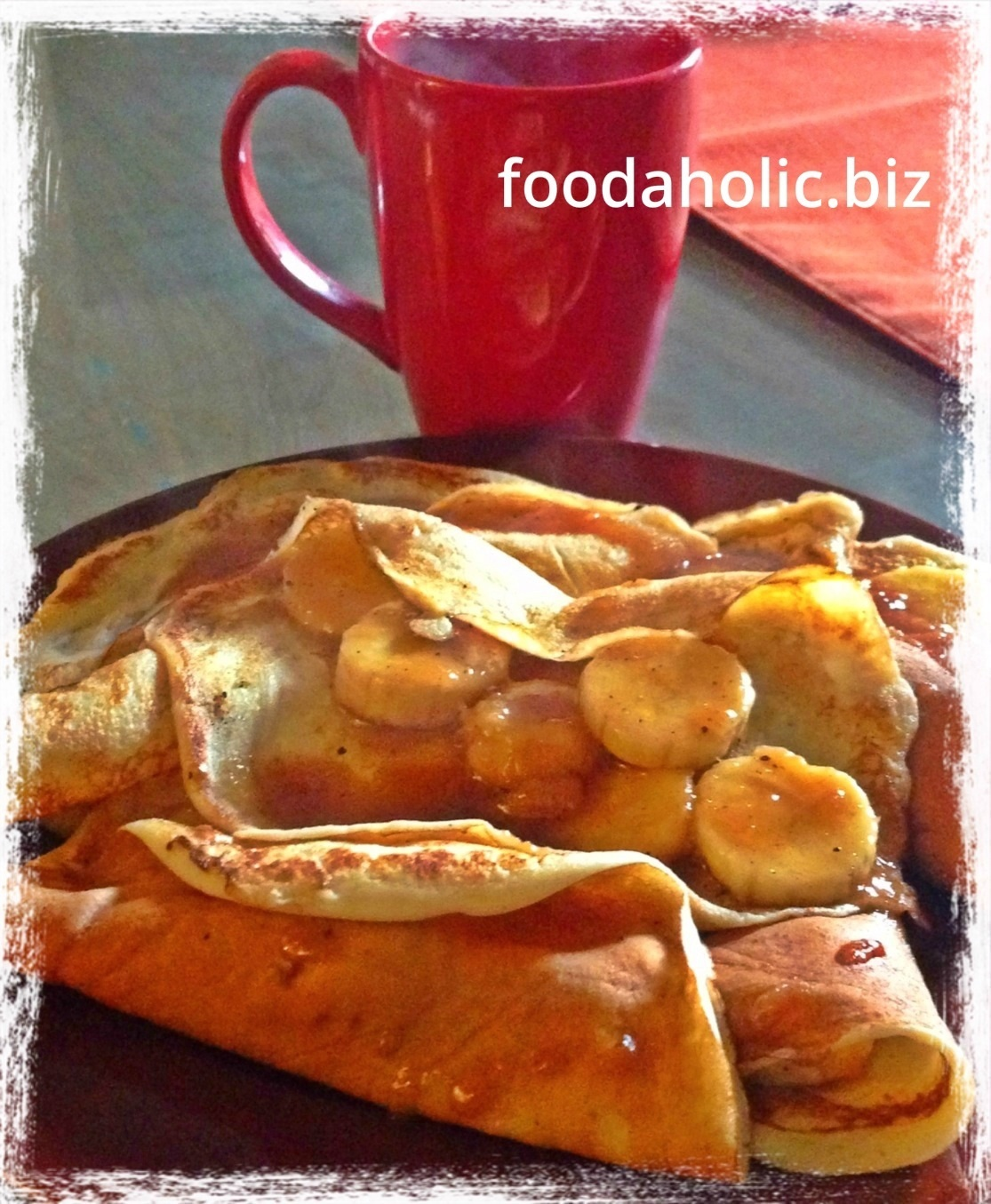 Crepes with Banana and Caramel Filling