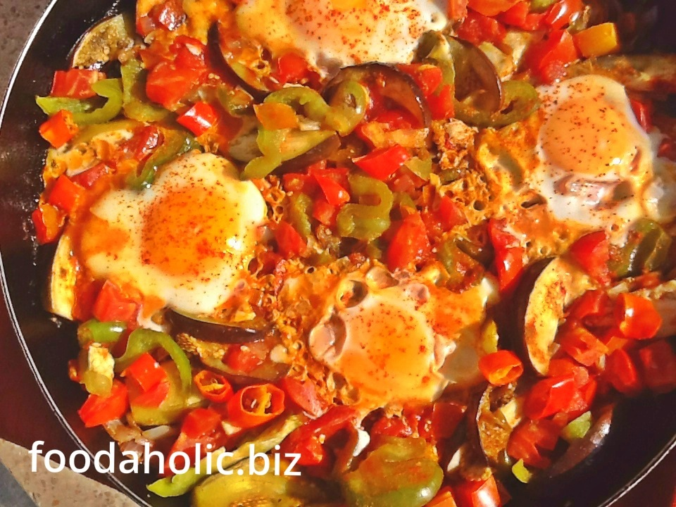 Chakchouka, Eggs with Vegetables