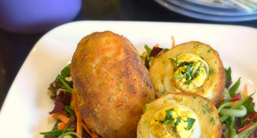 Baked Scotch Eggs with Potato