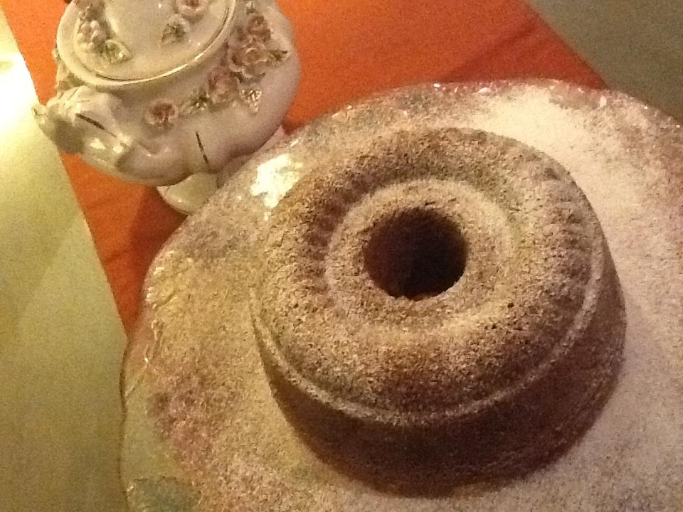 Caramel Walnut Cake