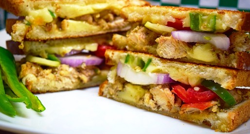 Chicken Tikka Grilled Cheese, Fusion Food