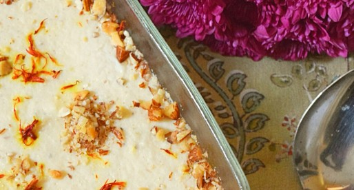 Kheer, Rice Pudding with Rose Water
