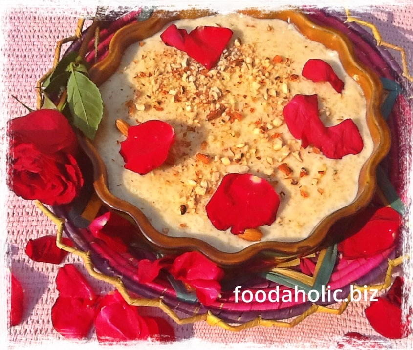 Kheer/Rice Pudding with Rose Water