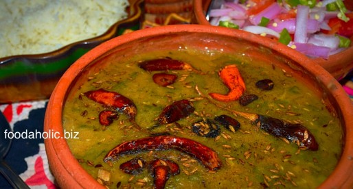 Daal Saag, Green Mung Lentils with Spinach, Gluten Free