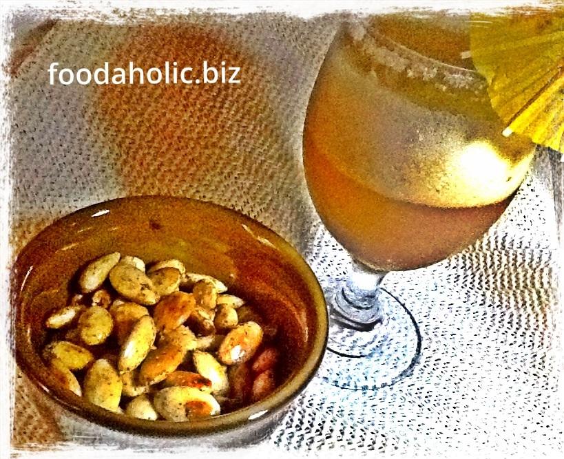 White Grape Slush, Spiced Almonds