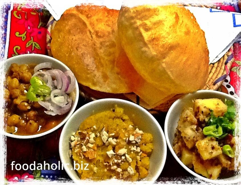 Poori Halwa, South Asian Breakfast