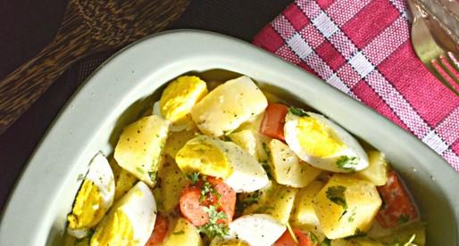 Warm Potato Salad with Roasted Garlic Dressing