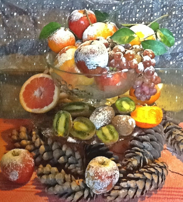 Frosty Fruit Centrepiece
