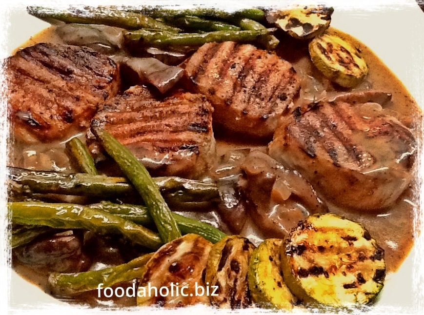 Grilled Beef Medallions in Mushroom Sauce
