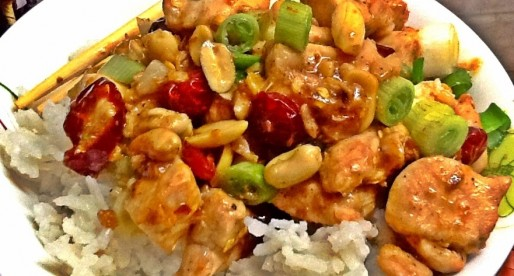 Chicken Kung Pao, Szechwan  Chicken and Peanuts Stir-fry