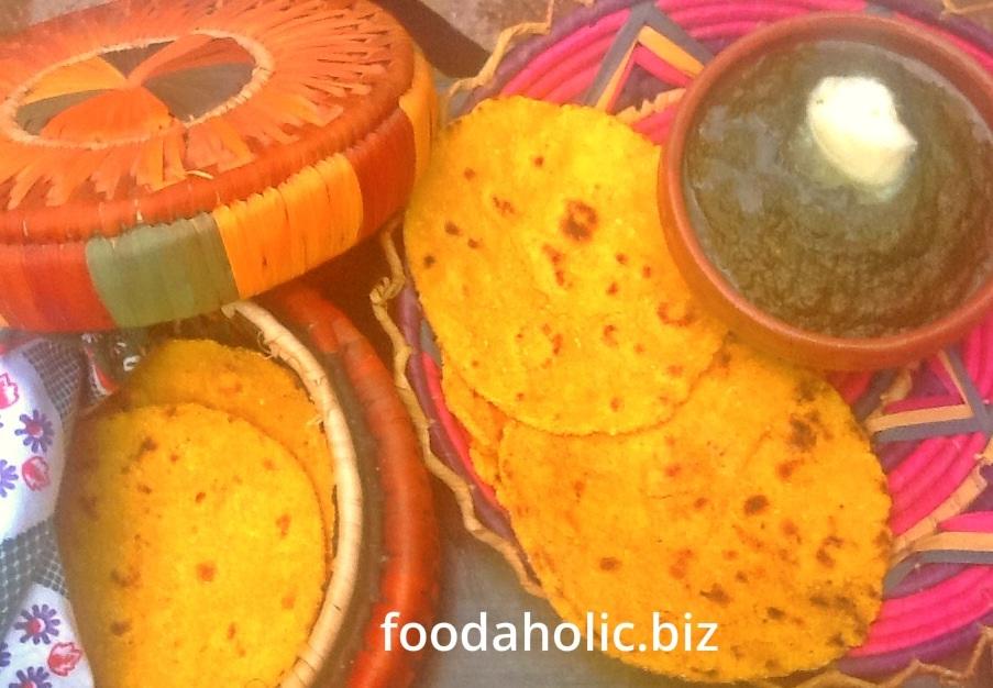 Sarson Ka Saag, Makki ki Roti / Mustard Greens with ...