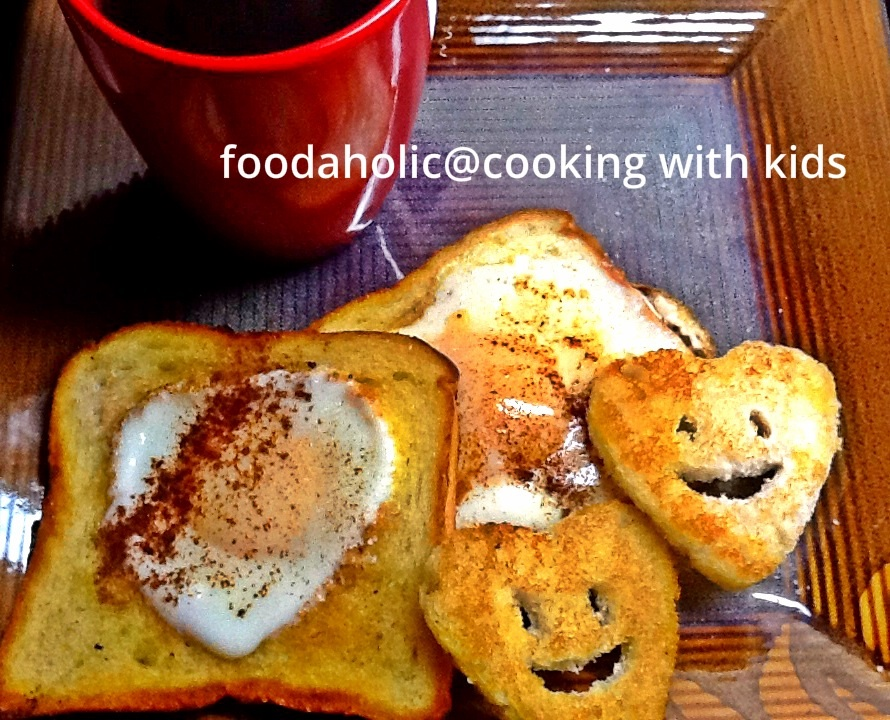 Eggs in Nest Hearts, Cooking with Kids