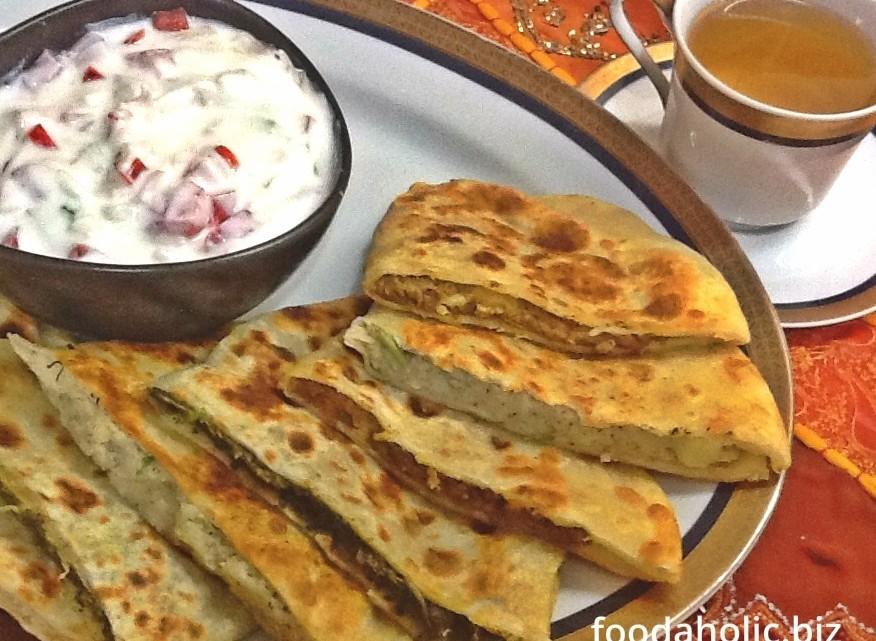 Authentic afghani bolani bread recipe for Afghan cuisine sugar land