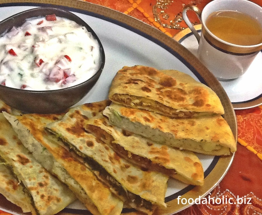 Authentic afghani bolani bread recipe for Afghan cuisine menu