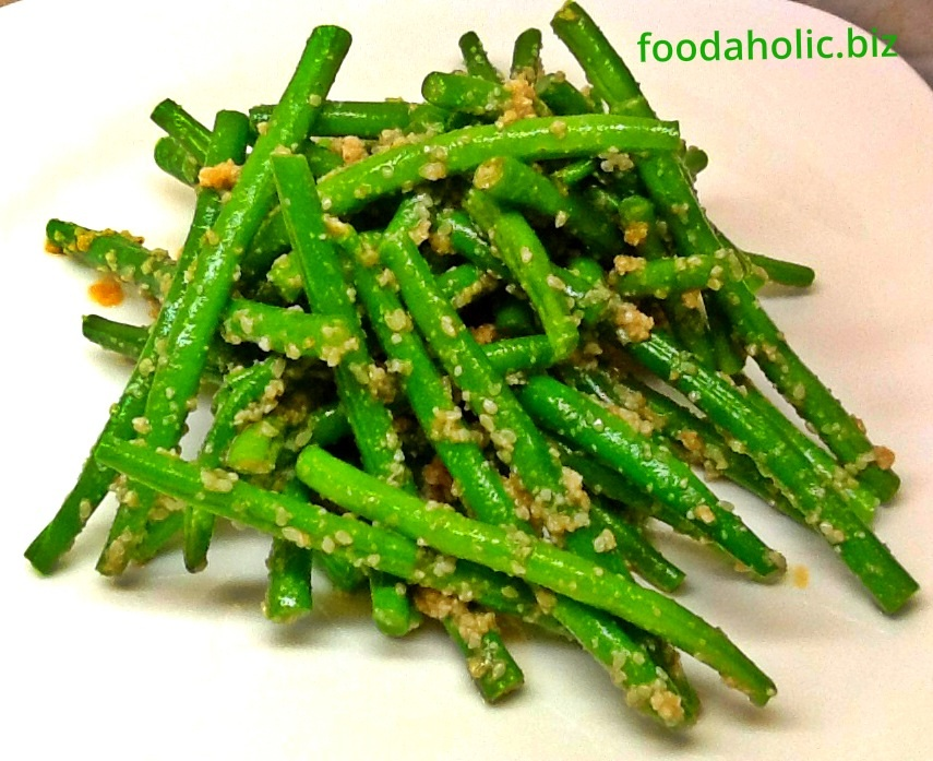 Gomaae , Sesame Sauce with French Beans