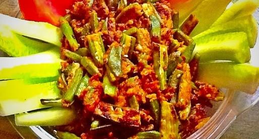 Crispy Fried Okra, Tariyal Bhindi, Vegan