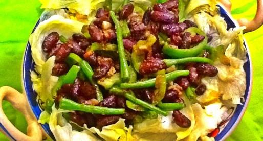 Beans Salad with Mint Mango Dressing