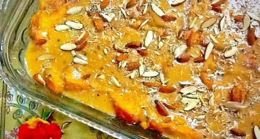 Shahi Tukray, Cardamom Bread Pudding