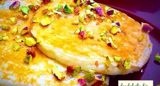 Arabian Dairy Free Pancake with Rosewater Syrup
