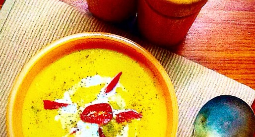 Spicy Winter Squash And Mixed Lentil Soup