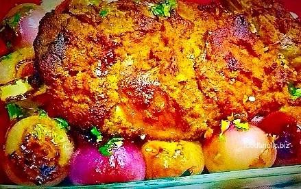 Masala Raan Roast, Almond Crusted Lamb Leg Roast Recipe