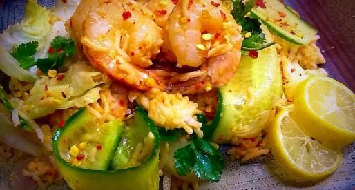 Chilli Lemon Prawn Rice Salad