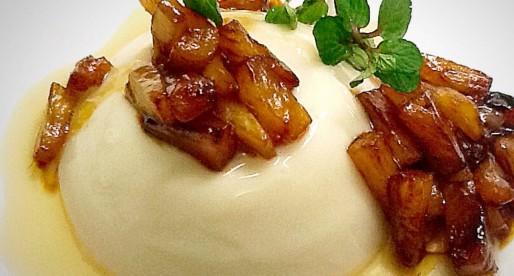 Coconut Milk Panna Cotta With Caramelised Pineapple