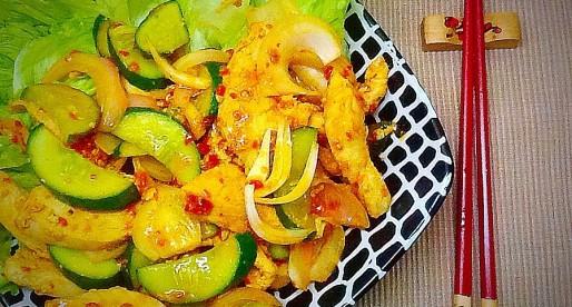 Chicken Stir Fry, Home Made Sambal Sauce