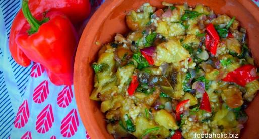Ajvar Recipe, Grilled Pepper and Eggplant Mash