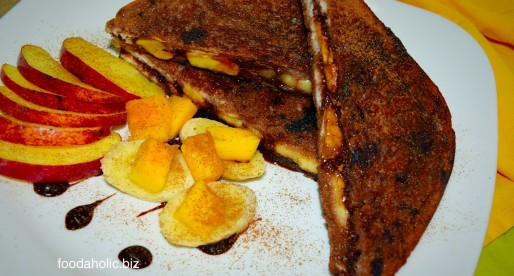 Fruit and Chocolate French Toast