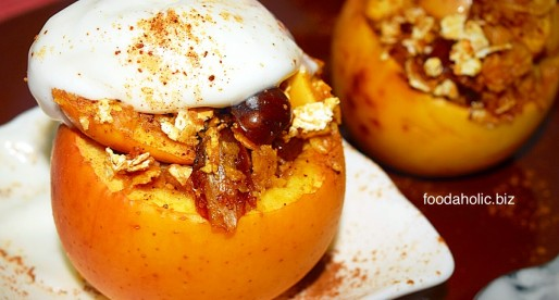 Crumble Stuffed Baked Apples