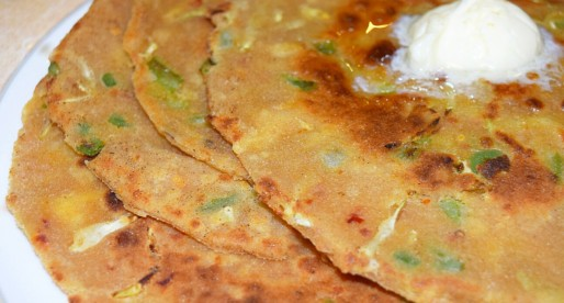 Tai Roti, Cabbage and Cheese Flatbread