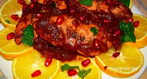 Orange and Dates Glazed Chicken
