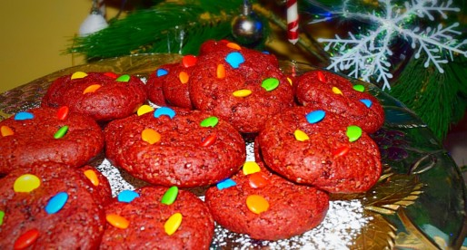 Gooey Red Velvet Cookie
