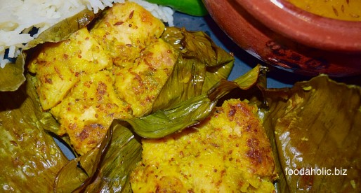 Macher Paturi, Fish in Banana Leaves