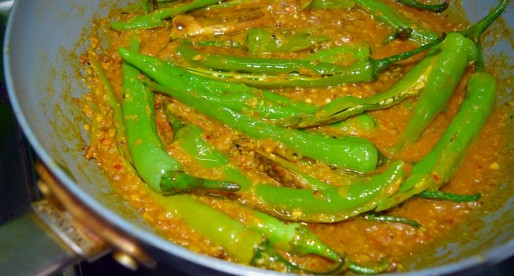 Hyderabadi Mirchi ka Salan, Green Chilli Curry