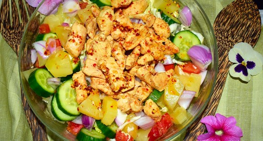 Chicken Pineapple Pico de Gallo Salad