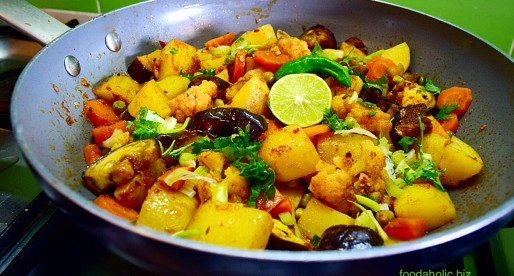 Panch Phoron Tarkari, Vegetables in Five Spices