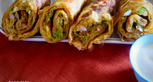 Anda Paratha Roll, Egg Fried Flat Bread