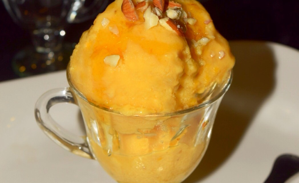 Lemon Ginger Mango Frozen Yogurt