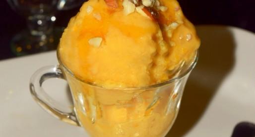 Lemon Ginger Mango Frozen Yogurt
