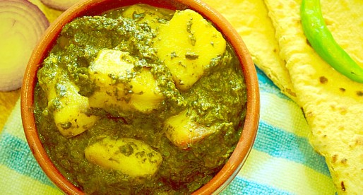 Aloo Palak, Potato Spinach Curry