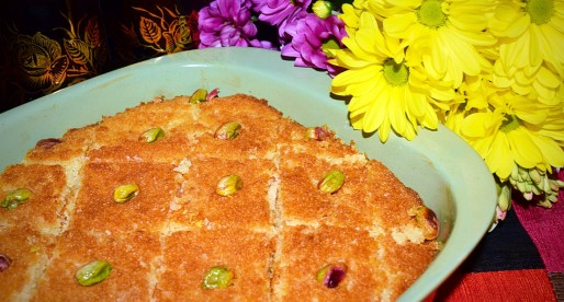 Best Basbousa Recipe, Semolina Coconut Cake