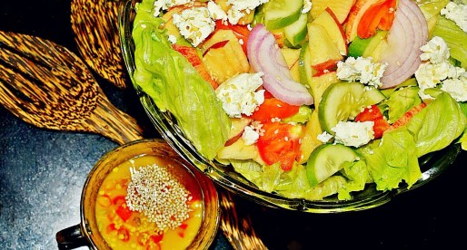 Apple Cucumber Salad with Lemon Miso Dressing