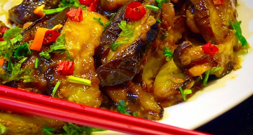 Sichuan Style Eggplant in Garlic Sauce