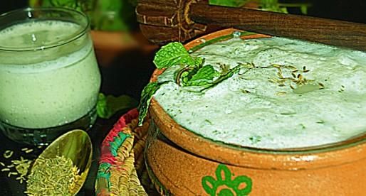 Pudina Chaach, mint buttermilk cooler