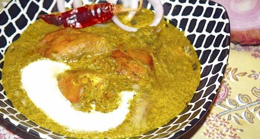 Murgh Saagwala, Chicken with Greens