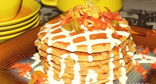 Carrot Cake Pancakes, egg free
