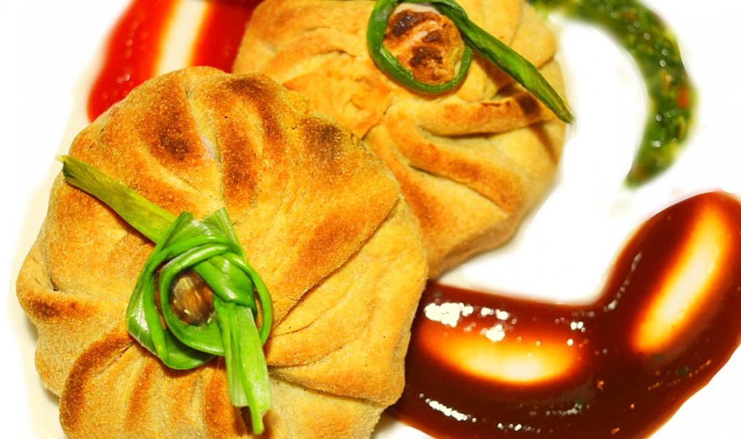 Baked Whole Wheat Matar Kachori Recipe, Peas Parcels