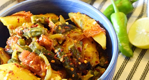 Aloo Bhindi Recipe, Potato Okra Dry Curry